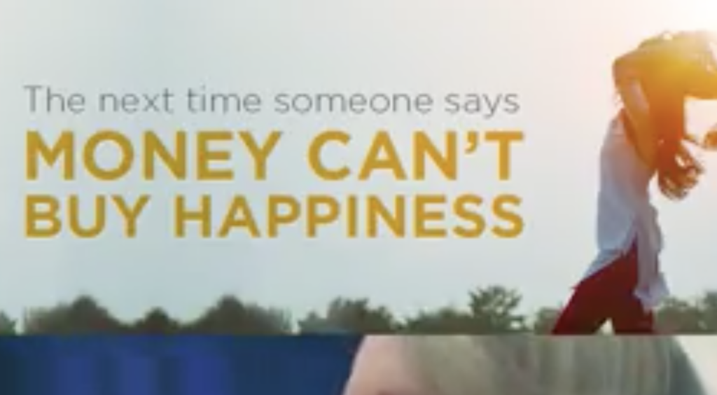 Think money can't buy happiness? Watch this!